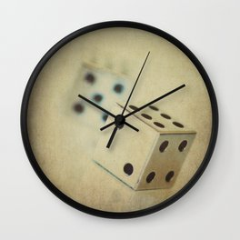 Vintage Chrome Dice Wall Clock