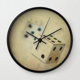Vintage Chrome Dice Wall Clock