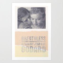 Breathless Godard Art Print