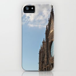 Siena cathedral at sunset iPhone Case