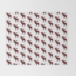 Buffalo Check Moose Throw Blanket