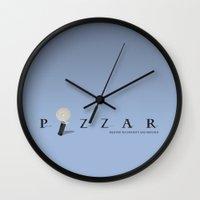 pixar Wall Clocks featuring Pixar by Tony Vazquez
