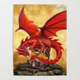 Red Dragon's Treasure Chest Poster