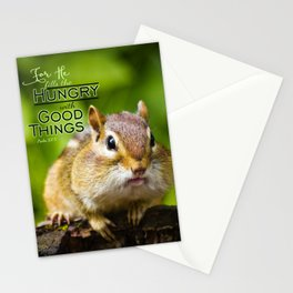 He Fills the Hungry- Psalm 107:9 Stationery Cards