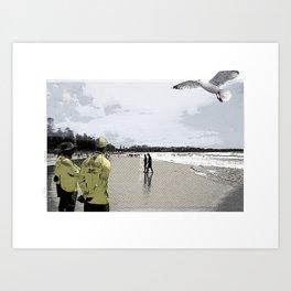 Manly beach Art Print