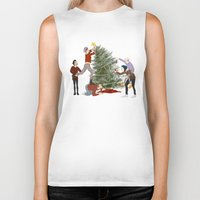 1d Biker Tanks featuring 1D XMAS by Tina Rojas