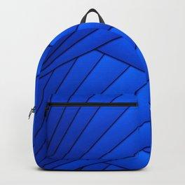 Monserrat Diamond Mandala With Blue Ribbon Backdrop Backpack