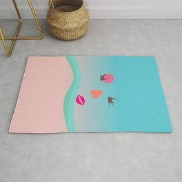 BE IN LOVE - Surreal illustration Rug