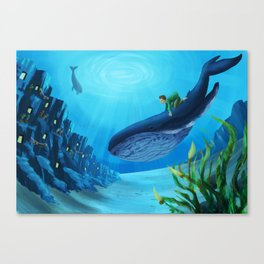 What if we could live underwater? Canvas Print