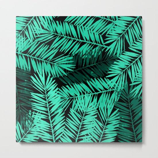 Tropical Palm Leaves II Metal Print