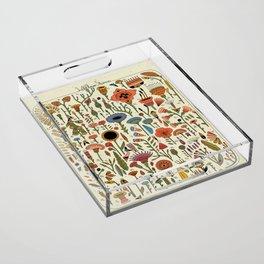 Wildflower Chart Acrylic Tray