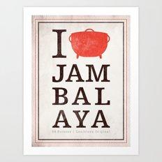 I Heart Jambalaya Art Print