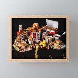Fast Food Super Deluxe Framed Mini Art Print