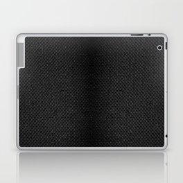 Black flax cloth texture abstract Laptop & iPad Skin