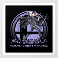 super smash bros Art Prints featuring Bayonetta - Super Smash Bros. by Donkey Inferno