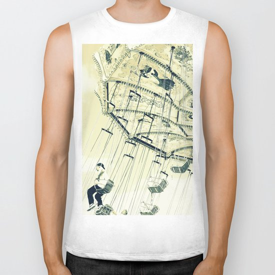 I can touch the sky Biker Tank