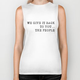 We give it back to you Biker Tank