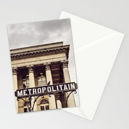 Metropolitain - Paris Metro Sign Stationery Cards