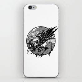 Noisy raven iPhone Skin