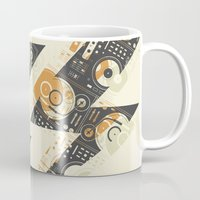 coldplay Mugs featuring Dj's Lightning by Sitchko Igor