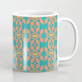 Southwestern Orange Turquoise Pattern Coffee Mug