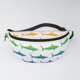 Rainbow Sharks Fanny Pack