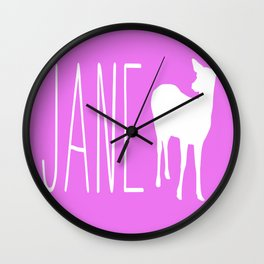 Jane Doe Wall Clock