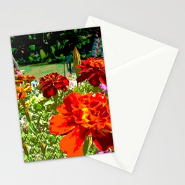 Burning Marigolds in the Sun Stationery Cards