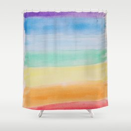 Chakra Watercolor Shower Curtain