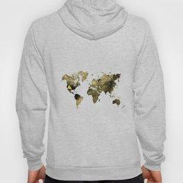 Gold world map Hoody