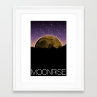 moonrise Framed Art Prints featuring Moonrise by 1982 est. by A.W. Owens