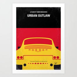 No316 My URBAN OUTLAW minimal movie poster Art Print