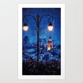 Nightlife Art Print