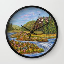 Meadow of Tranquility, Impressionism Landscape Wall Clock