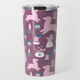 Alpaca fun purple Travel Mug
