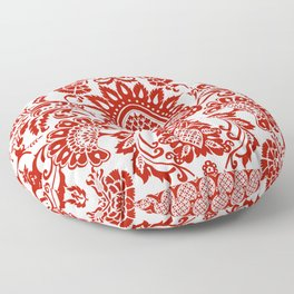 Damask in red Floor Pillow