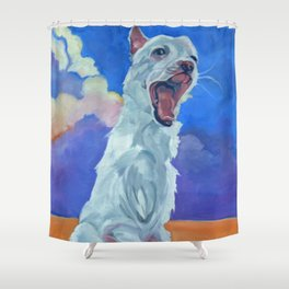 Special Needs Pippin Dog Portrait Shower Curtain