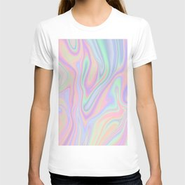 Liquid Colorful Abstract Rainbow Paint T-shirt