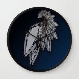 Tribal Lace Wing Interpretive Graphic Art Print  Wall Clock