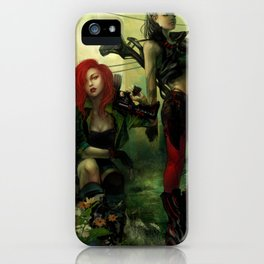 Hot pepper - Sci-fi soldier girls with weapons iPhone Case
