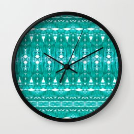 Aqua pattern Wall Clock