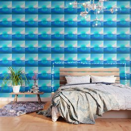 Serenity Prayer With Blue Ocean and Amazing Sky Wallpaper