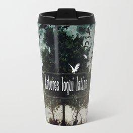 arbores loqui latine Travel Mug