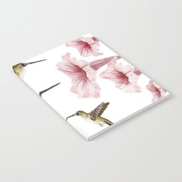 Hummingbirds and flowers Notebook