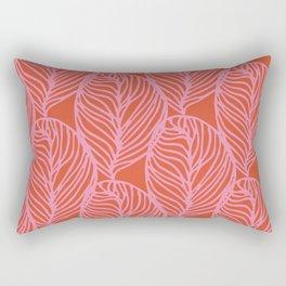 petaluma: pink leaf pattern Rectangular Pillow