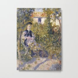 Nini in the Garden Metal Print