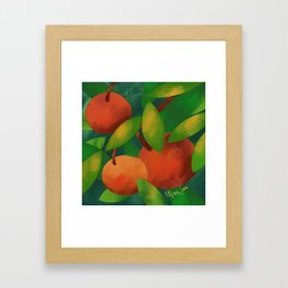 Tangerine Love Framed Art Print