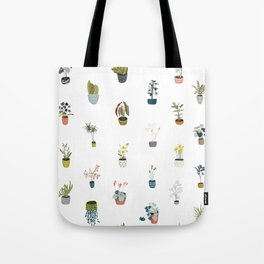plants in pots Tote Bag