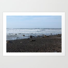 Rocks along Highway 1 Art Print