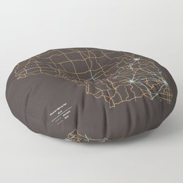 Wisconsin Highways Floor Pillow